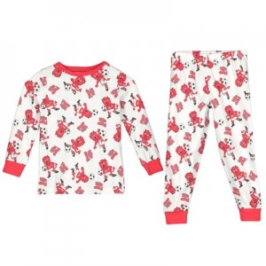 Manchester United Fred the Red Snuggle Fit Pyjamas - White - Younger Boys