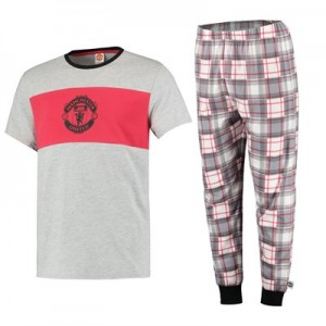 Manchester United Panelled Pyjamas - Grey - Mens