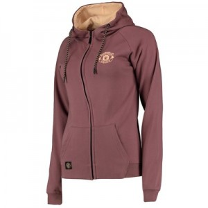 Manchester United Full Zip Hoodie - Lilac - Womens