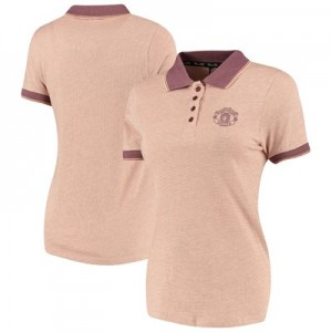 Manchester United Stripe Polo Shirt - Lilac - Womens