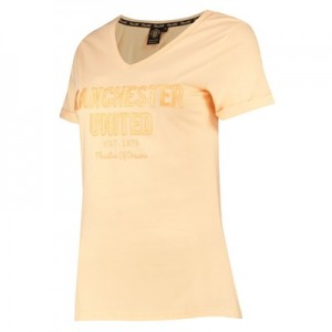 Manchester United V Neck T-Shirt - Pink - Womens