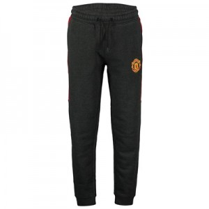 Manchester United Core Crest Joggers - Charcoal/Red - Mens