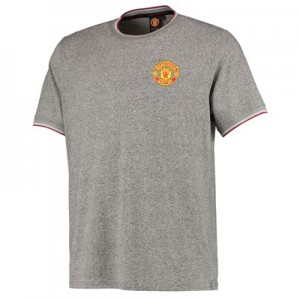 Manchester United Core Grindle T-Shirt - Grey - Mens