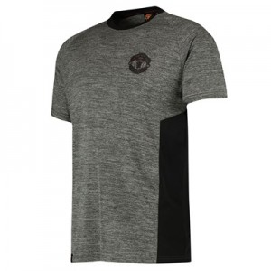 Manchester United Core Poly T-Shirt - Grey - Mens
