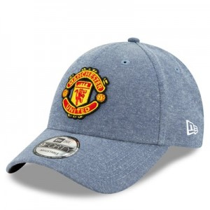 Manchester United New Era Chambray 9FORTY Adustable Cap - Blue - Adult