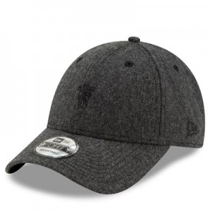 Manchester United New Era Herringbone 9FORTY Adjustable Cap - Grey - Adult