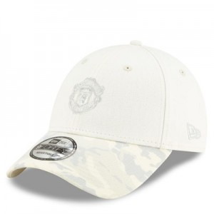Manchester United New Era Devil 9TWENTY Adjustable Cap - Stone - Adult