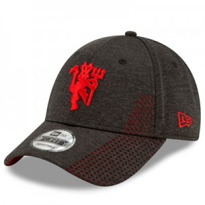 Manchester United New Era Devil Shadow Tech 9FORTY Adjustable Cap - Black - Adult