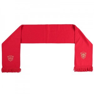 Manchester United Treble Fine Knit Scarf - Red