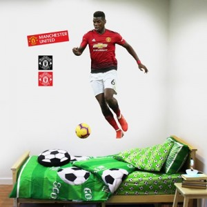 Manchester United Paul Pogba Wall Sticker Set - 120x60cm