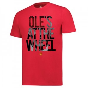 Manchester United Oles At The Wheel T Shirt - Red - Mens
