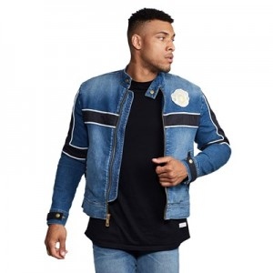 Manchester United True Religion Hero Blocked Jacket - Vintage Wash - Mens