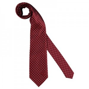 Manchester United Crest Pattern Tie - Red - Poly