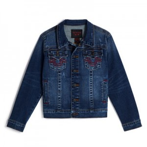 Manchester United True Religion Trucker Jacket - Boys