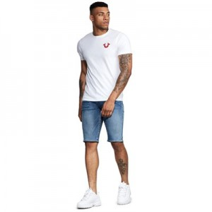 Manchester United True Religion Geno Denim Short - Mens