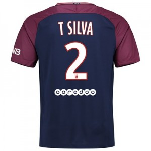 Paris Saint-Germain Home Stadium Shirt 2017-18 with Silva 2 printing
