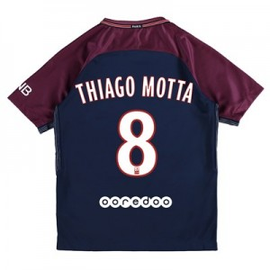 Paris Saint-Germain Home Stadium Shirt 2017-18 - Kids with Thiago Motta 8 printing