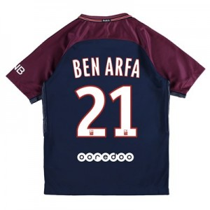 Paris Saint-Germain Home Stadium Shirt 2017-18 - Kids with Ben Arfa 21 printing