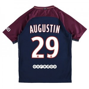 Paris Saint-Germain Home Stadium Shirt 2017-18 - Kids with Augustin 29 printing