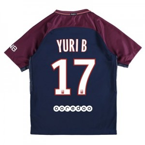 Paris Saint-Germain Home Stadium Shirt 2017-18 - Kids with Yuri B 17 printing