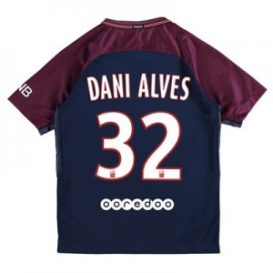 Paris Saint-Germain Home Stadium Shirt 2017-18 - Kids with Dani Alves 32 printing