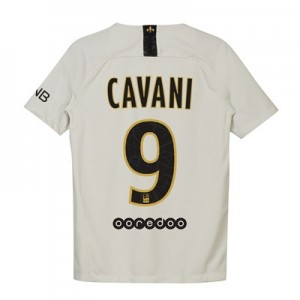 Paris Saint-Germain Away Stadium Shirt 2018-19 - Kids with Cavani 9 printing