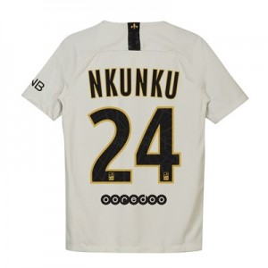Paris Saint-Germain Away Stadium Shirt 2018-19 - Kids with Nkunku 24 printing