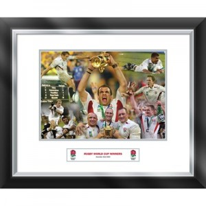 England Celebration of 2003 World Cup - Framed and Mounted - 588 x 486 mm