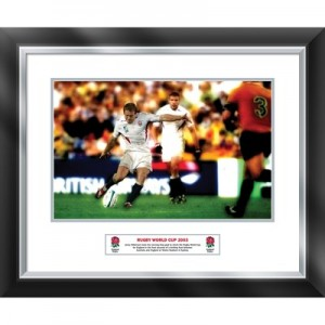 England Jonny Wilkinson Winning Kick World Cup 2003 - Framed and Mounted - 588 x 486 mm