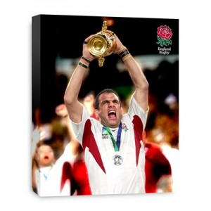 England Martin Johnson World Cup Lift 2003 Canvas - 508 x 406 mm