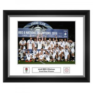 England 2016 Grand Slam Champions Frame - 588x486mm