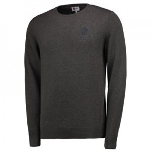 England Cotton Crew Neck Jumper - Charcoal