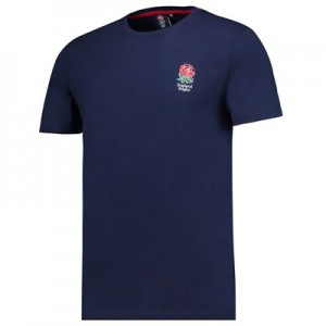 England Core Small Rose T-Shirt - Navy - Mens
