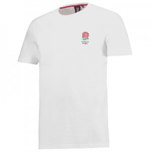 England Core Small Rose T-Shirt - White - Mens