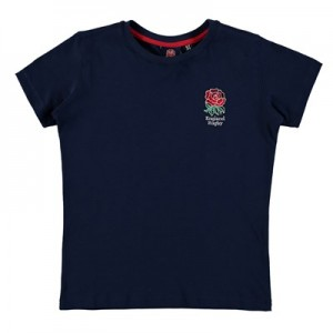 England Core Rose T-Shirt - Navy - Junior