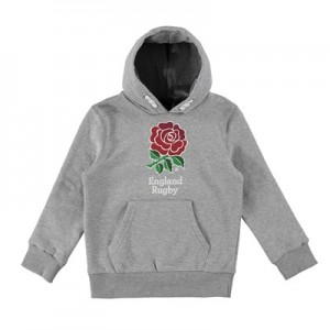 England Core Large Rose Hoodie - Grey - Junior