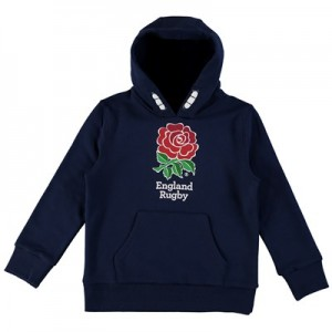 England Core Large Rose Hoodie - Navy - Junior