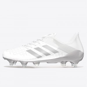 adidas Predator Malice Control Soft Ground Rugby Boots - White