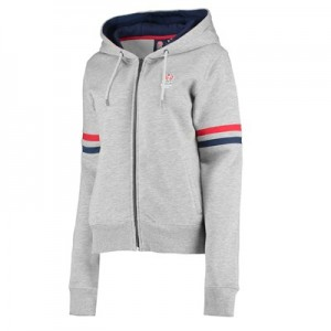 England Classic Zip Through Hoodie - Grey - Womens