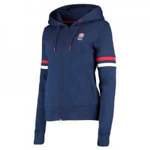 England Classic Zip Through Hoodie - Navy - Womens