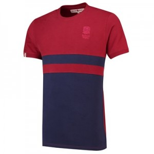 England Clubhouse Cut and Sew T-Shirt - Navy/Red Marl - Mens