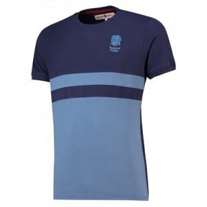 England Clubhouse Cut and Sew T-Shirt - Sky/Navy - Mens
