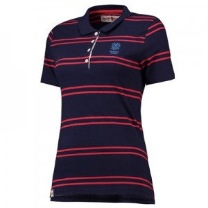 England Clubhouse Stripe Polo - Navy - Womens