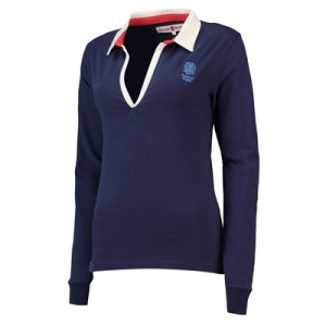 England Clubhouse V-Neck Rugby - Navy - Womens