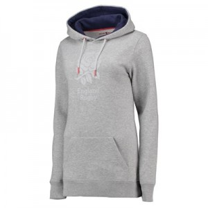 England Clubhouse Longline Hoodie - Grey Marl - Womens