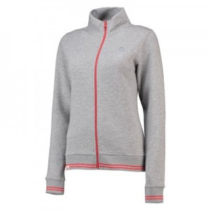 England Clubhouse Zip Through Top - Grey Marl - Womens