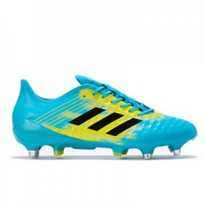 adidas Predator Malice Control - Soft Ground Rugby Boot - Aqua/Black/Yellow