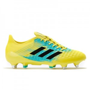 adidas Predator Malice Control - Soft Ground Rugby Boot - Yellow/Black/Aqua