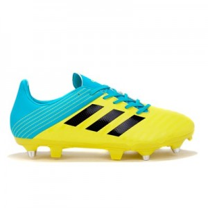 adidas Malice - Soft Ground Rugby Boot - Yellow/Black/Aqua
