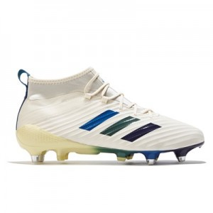 adidas Predator Flare - Soft Ground Rugby Boot - Cream White/Ice Yellow/Trace Green